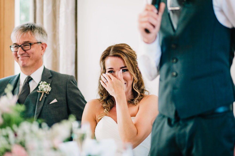 BRIDE CRYING DURING GROOMS WEDDING SPEECH