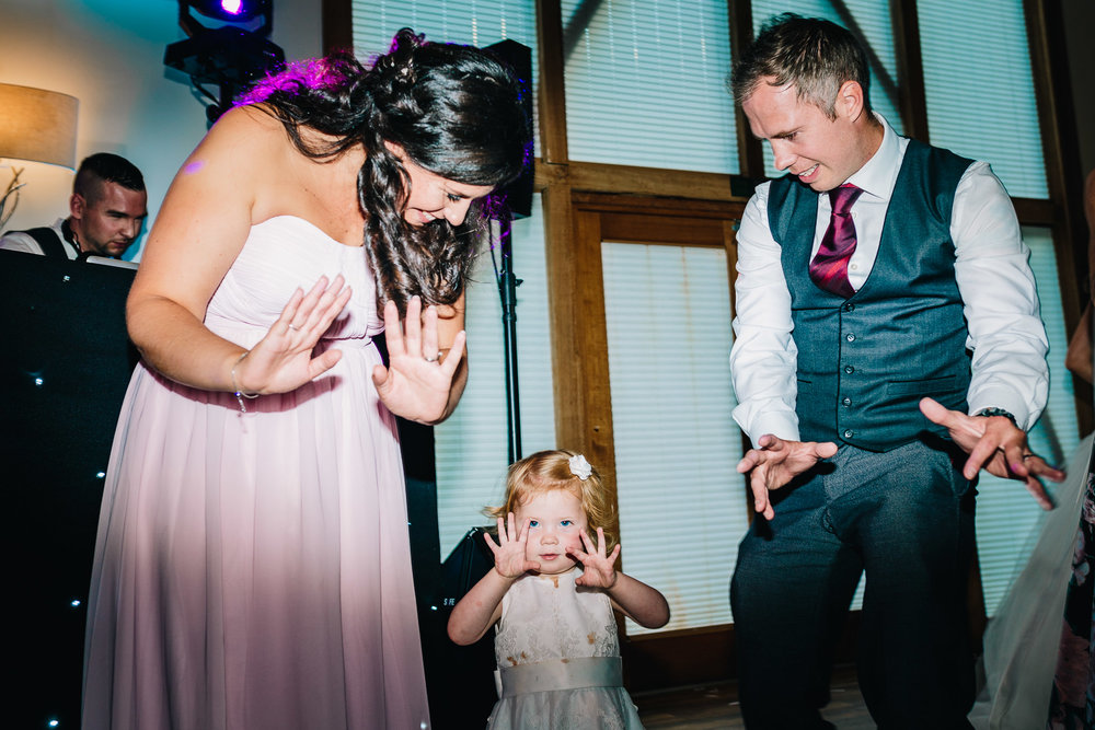 CHILD DANCING AT WEDDING RECEPTION DISCO