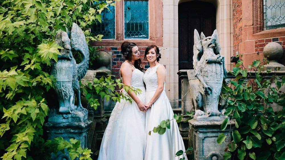HARRY POTTER WEDDING PHOTOGRAPHY AT CREWE HALL GAY WEDDING