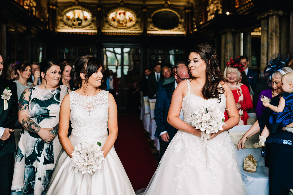 SAME SEX BRIDES SEE EACH OTHER FOR THE FIRST TIME ON WEDDING DAY