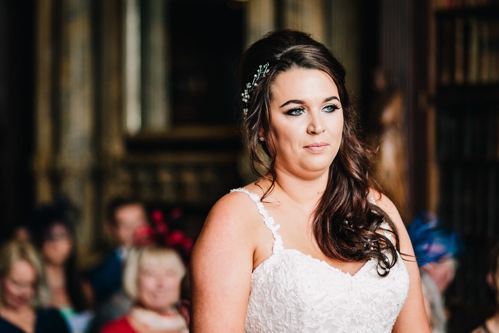 GORGEOUS BRIDE GETTING MARRIED AT CREWE HALL