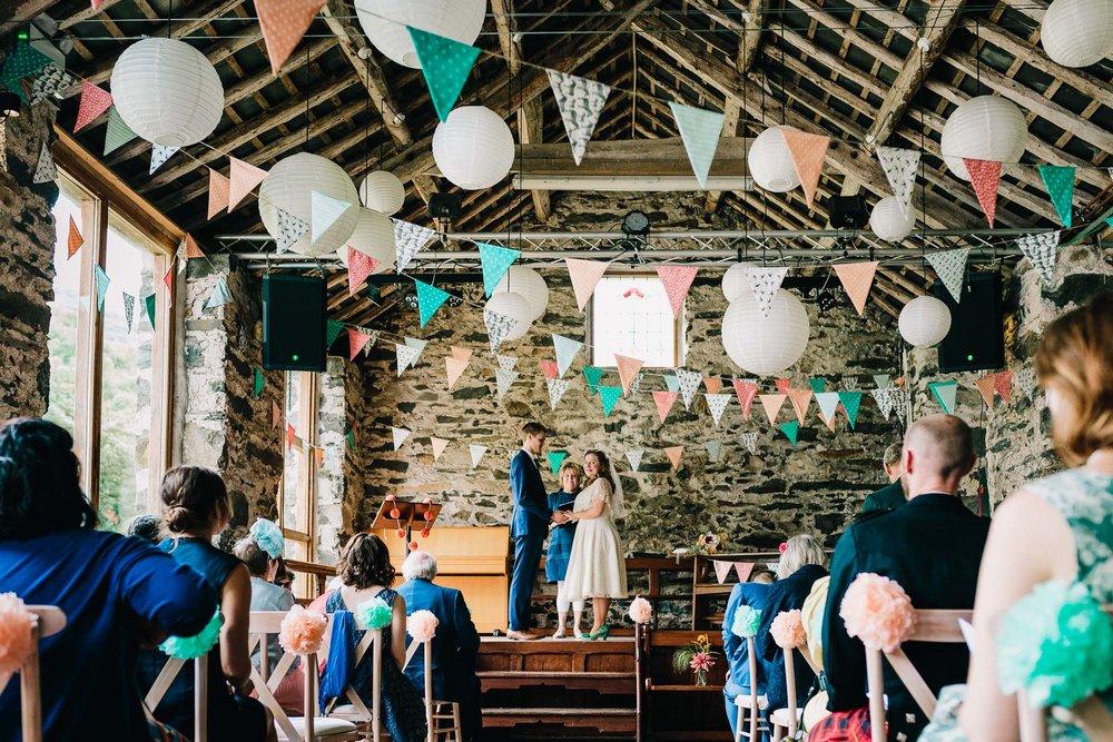 NORTH WALES RUSTIC BARN WEDDING LLYN GWYNANT