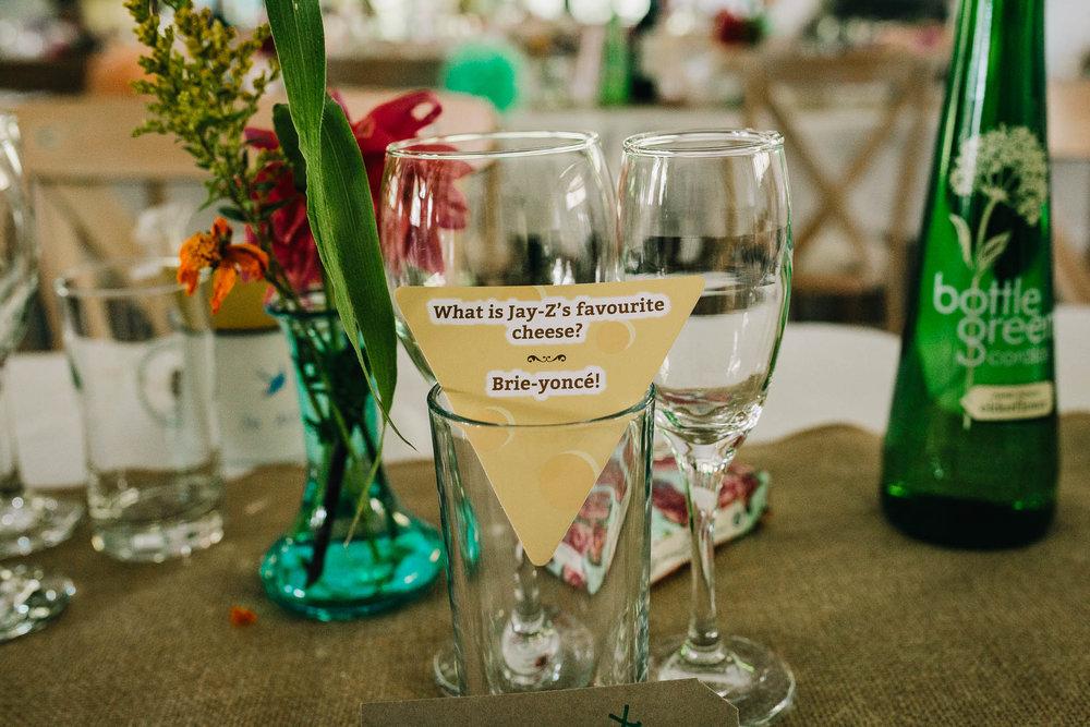 CHEESEY JOKE CARD IN WINE GLASS