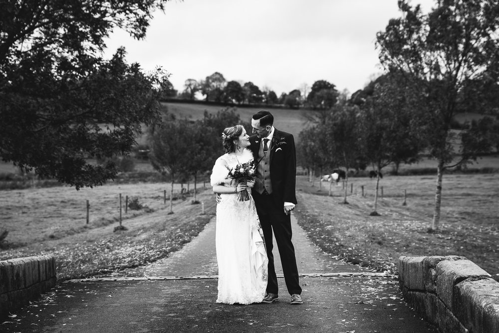 BLACK AND WHITE BRIDAL PORTRAIT THE ASHES