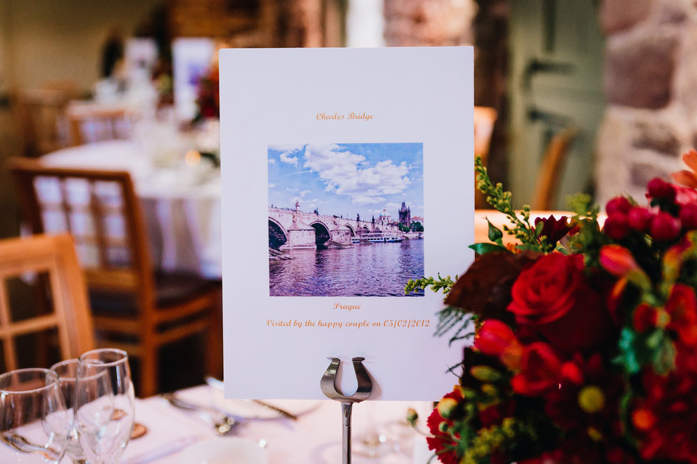 WEDDING TABLE CENTER PIECES NAMED AFTER BRIDGES
