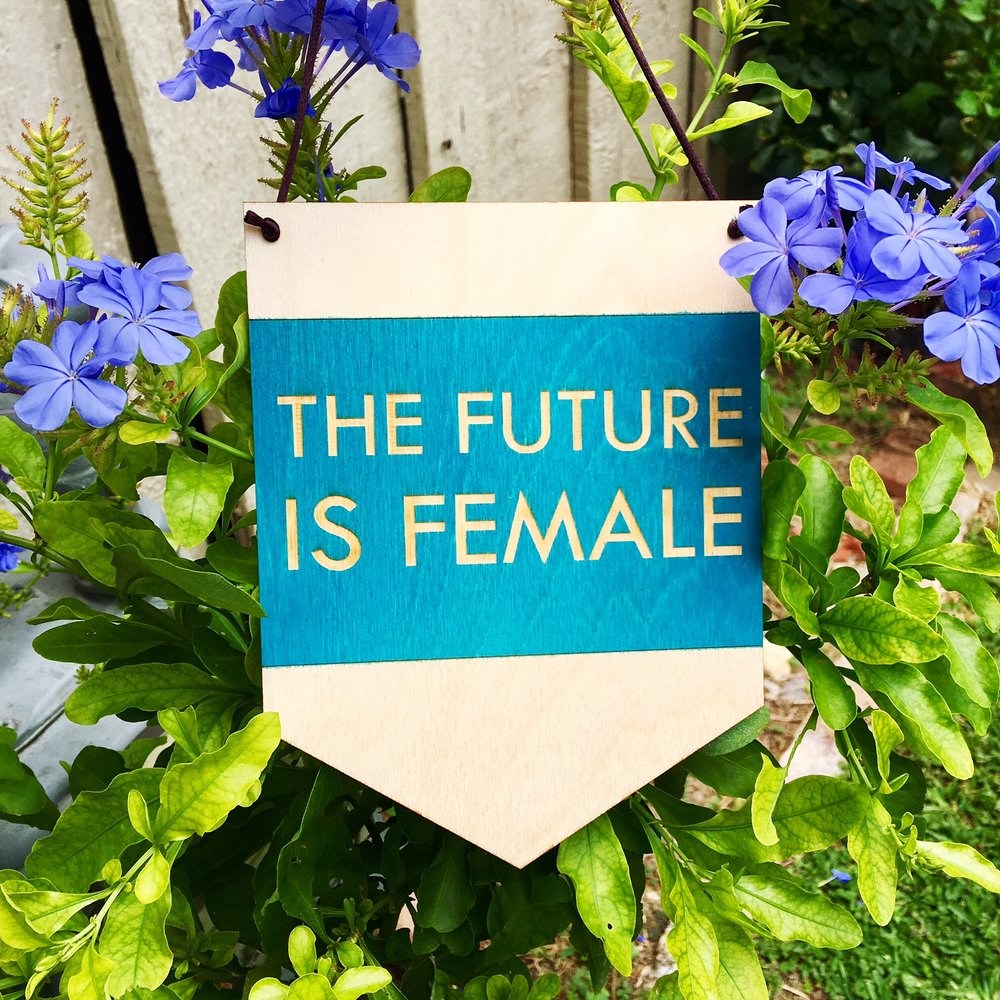 $23.99 THE FUTURE IS FEMALE WALL HANGING
