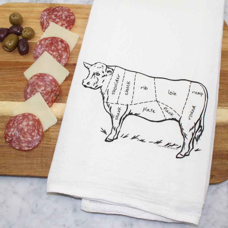 $13.99 BUTCHER CHART KITCHEN TOWEL