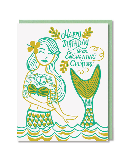 Enchanting Creature Mermaid Birthday Card Local Notables Llc