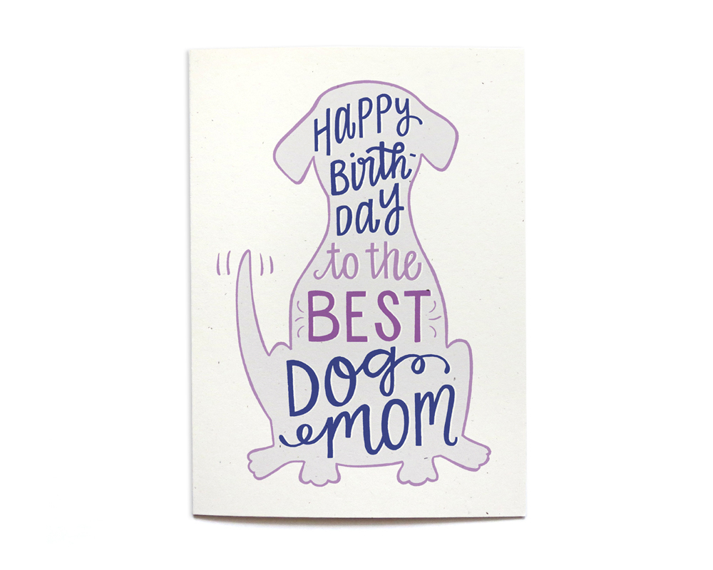 Local Notables Gift Shop BEST DOG MOM BIRTHDAY CARD
