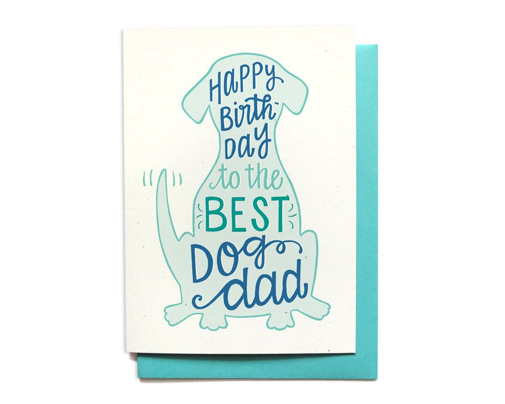 Local Notables Gift Shop BEST DOG DAD BIRTHDAY CARD