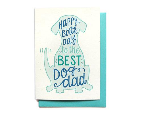 Best Dog Dad Birthday Card Local Notables Llc