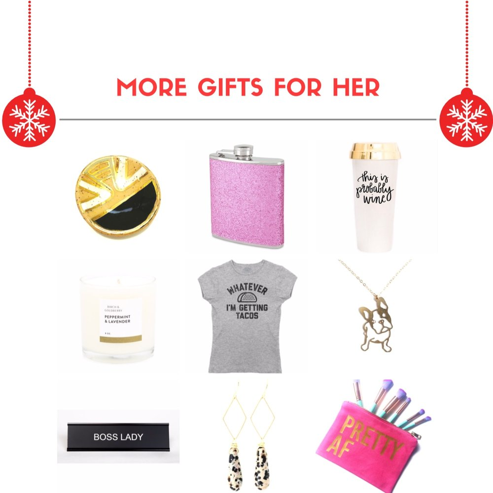 MORE GIFTS FOR HER