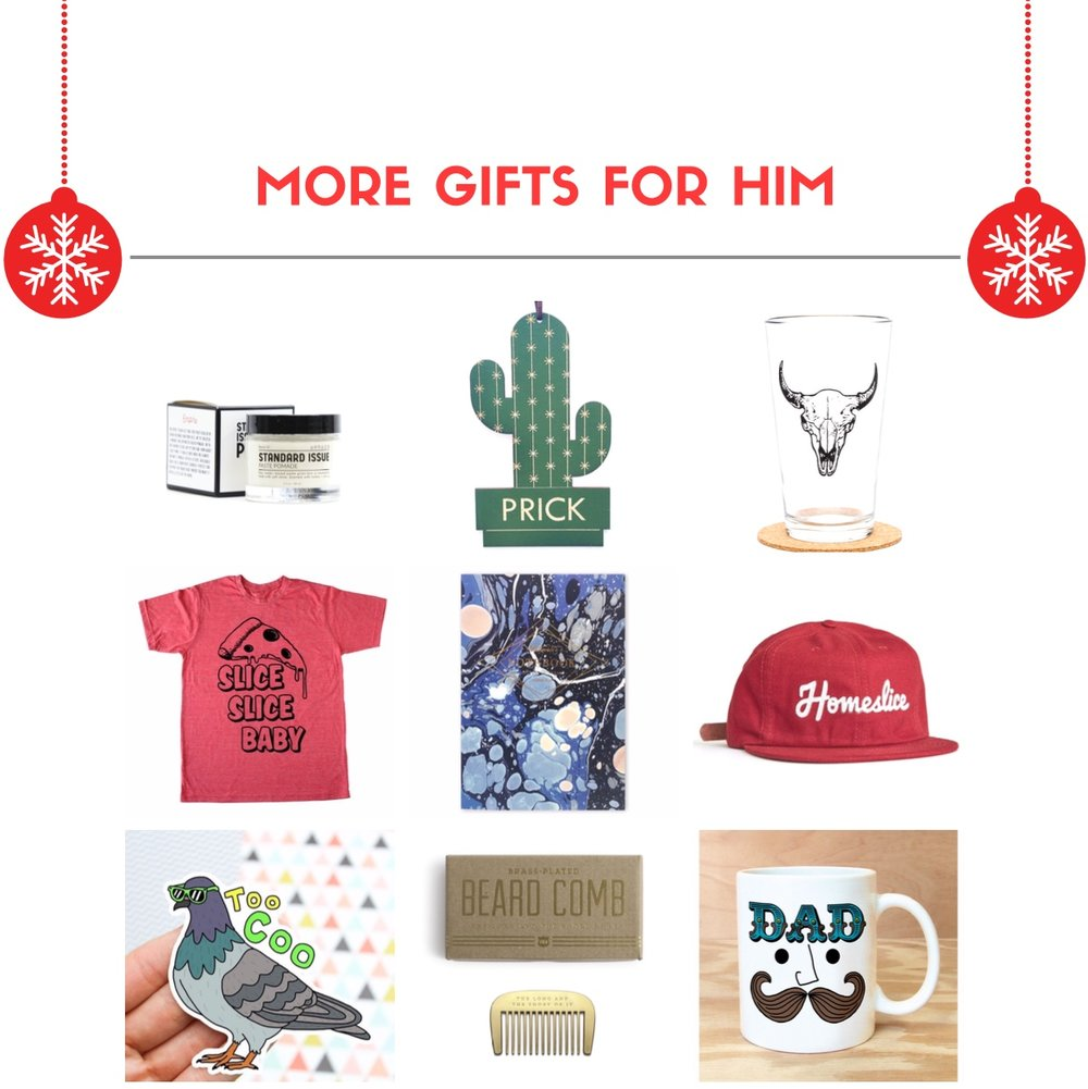 MORE GIFTS FOR HIM