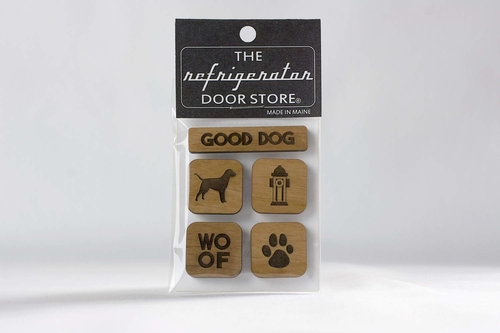GOOD DOG WOOD MAGNET SET