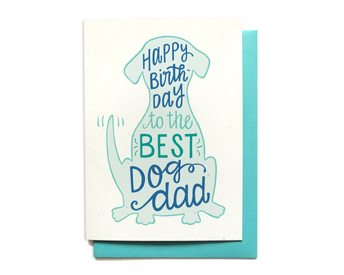 BEST DOG DAD BIRTHDAY CARD