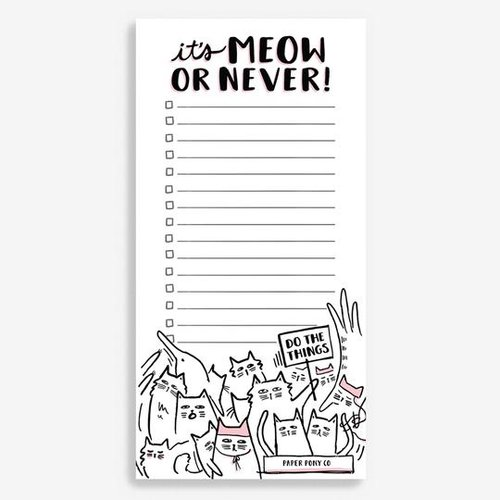IT'S MEOW OR NEVER NOTEPAD