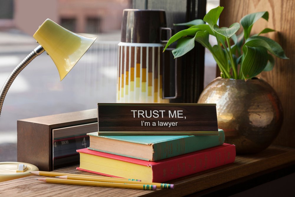 $27.99 TRUST ME, I'M A LAWYER NAMEPLATE