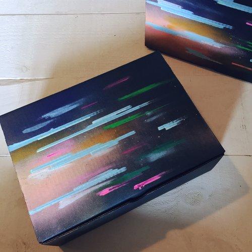 $12.99 HANDPAINTED GALAXY GIFT BOX
