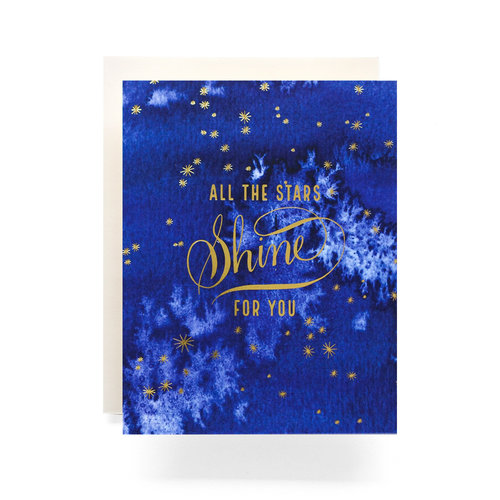 $4.99 ALL THE STAR SHINE FOR YOU GOLD FOIL CARD