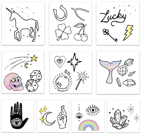 $11.99 LUCK & MAGIC TEMPORARY TATTOO PACK