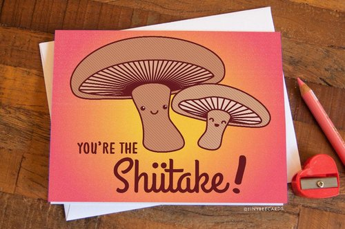 Copy of Copy of Copy of Copy of $4.49 YOU'RE THE SHIITAKE MUSHROOM CARD