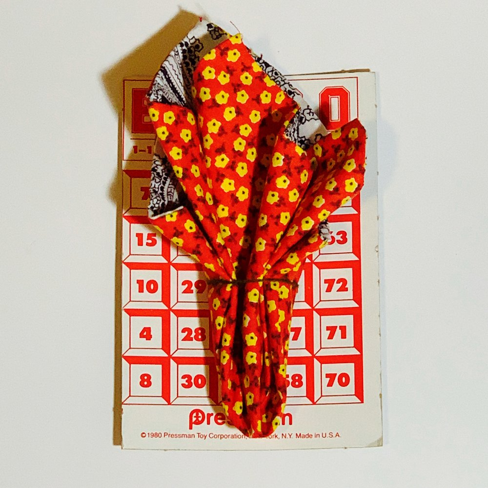 $23.99 RED FLORAL VINTAGE HANDMADE POCKET SQUARE