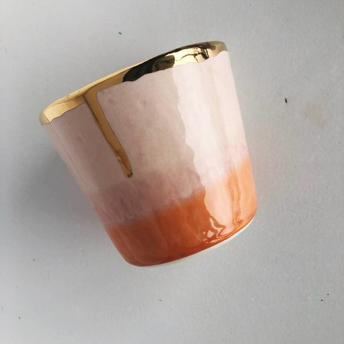 $31.99 DESERT OMBRE TUMBLER WITH GOLD RIM