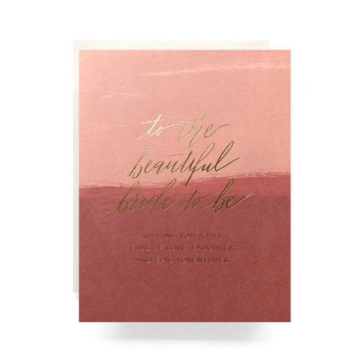 $4.99 BLUSHING BRIDE TO BE GOLD FOIL CARD