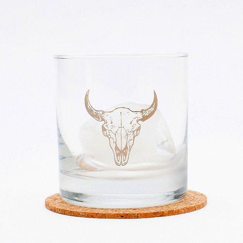 $13.99 BUFFALO SKULL ROCKS GLASS
