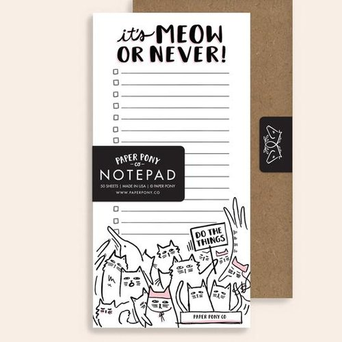 $10.99 IT'S MEOW OR NEVER CAT NOTEPAD