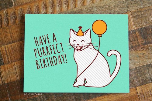 $4.49 HAVE A PURRFECT BIRTHDAY CARD