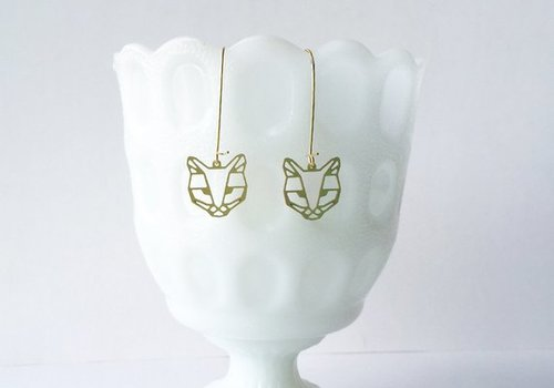 $19.99 CAT FACE EARRINGS