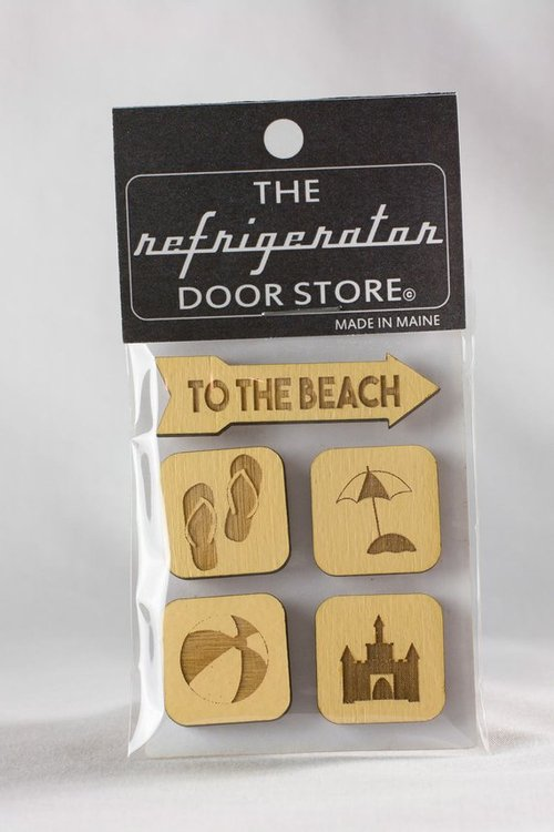 $9.99 TO THE BEACH WOOD MAGNET SET