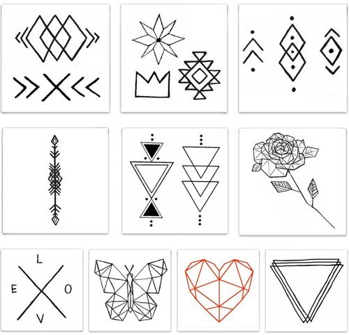 Copy of $11.99 GEOMETRIC TEMPORARY TATTOO PACK
