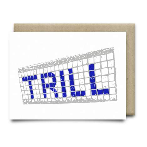 $4.99 TRILL BLUE TILES GREETING CARD