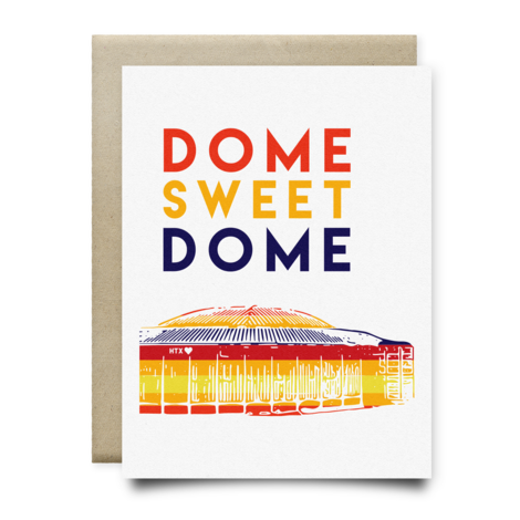 $4.99 DOME SWEET DOME ASTRODOME GREETING CARD