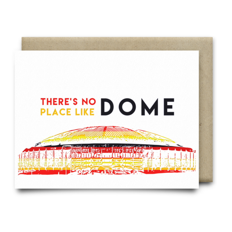 $4.99 THERE'S NO PLACE LIKE DOME ASTRODOME GREETING CARD