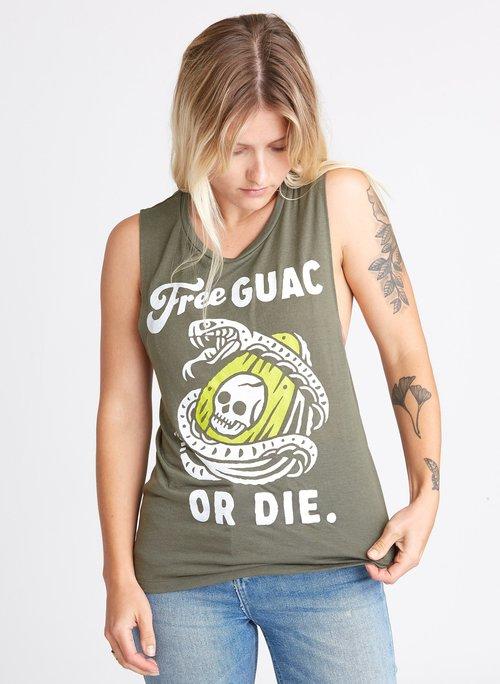 $28.99 FREE GUAC OR DIE MUSCLE TEE