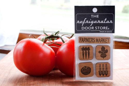 $9.99 FARMER'S MARKET WOOD MAGNET SET