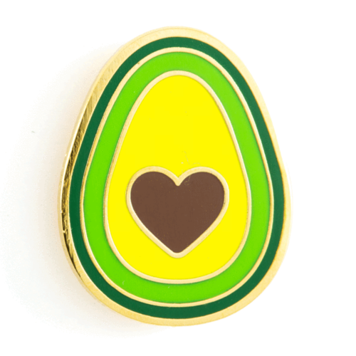 $9.99 AVOCADO HEART PIN