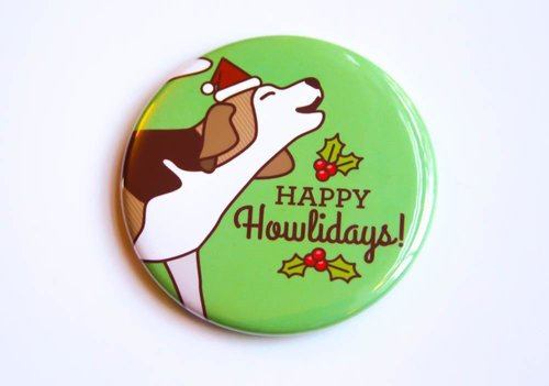 $3.49 HAPPY HOWLIDAYS BEAGLE DOG MAGNET
