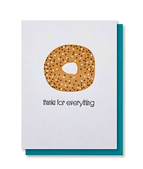 $4.99 THANKS FOR EVERYTHING BAGEL CARD