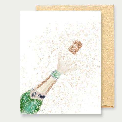 $4.49 POPPIN CHAMPAGNE CARD