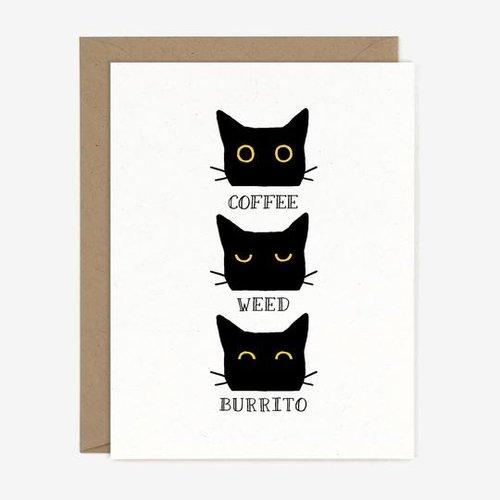 $4.49 COFFEE WEED BURRITO CAT CARD