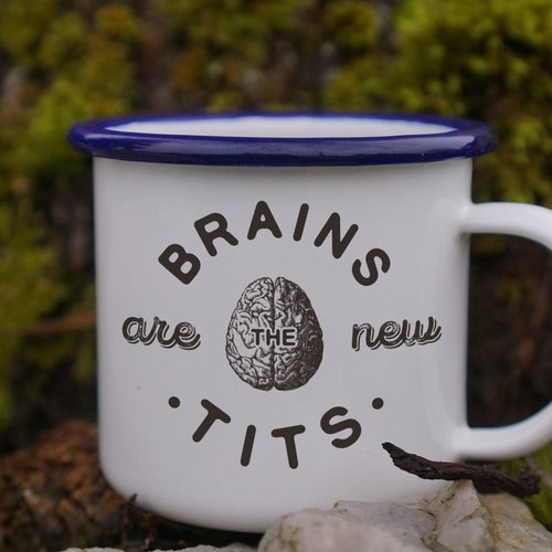 $15.99 BRAINS ARE THE NEW TITS MUG