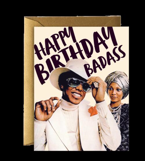 $4.99 HAPPY BIRTHDAY BADASS CARD