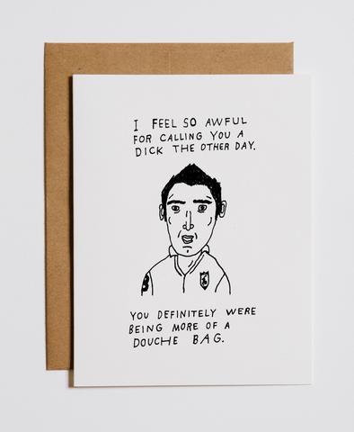 $4.49 CONGRATS YOU'RE A DOUCHE BAG GREETING CARD