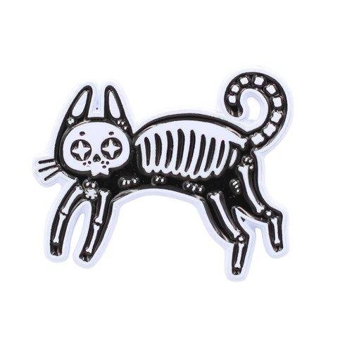 $9.95 SKELETON CAT PIN