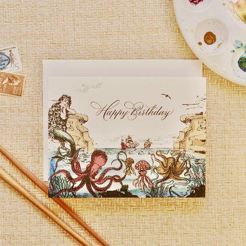 $4.99 SEA ODYSSEY BIRTHDAY CARD