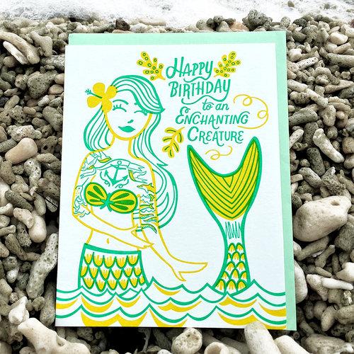 $4.99 ENCHANTING CREATURE MERMAID BIRTHDAY CARD